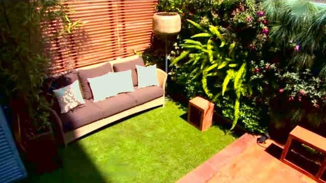 jardines verticales patio edificios modernos