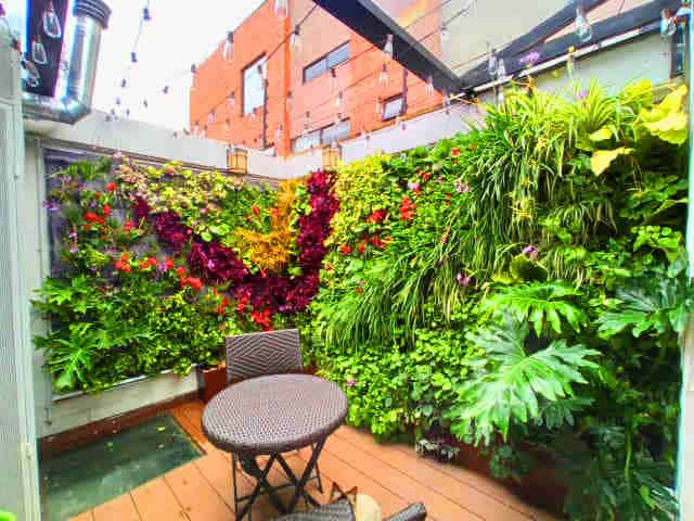 jardin vertical casero huerta balcones zen iluminados