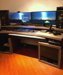 mueble para monitor doble